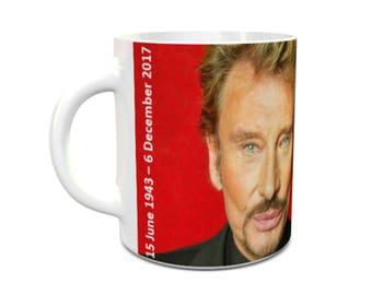 Johnny Hallyday mug ceramic mug french rock star mug 11oz ceramic tea/coffee mug