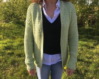 Green women vest - size 38
