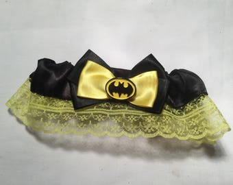 Batman Wedding Garter - Handmade