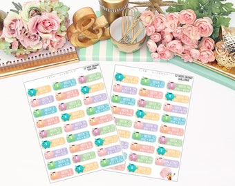 52 Week Savings Challenge // Functional Stickers