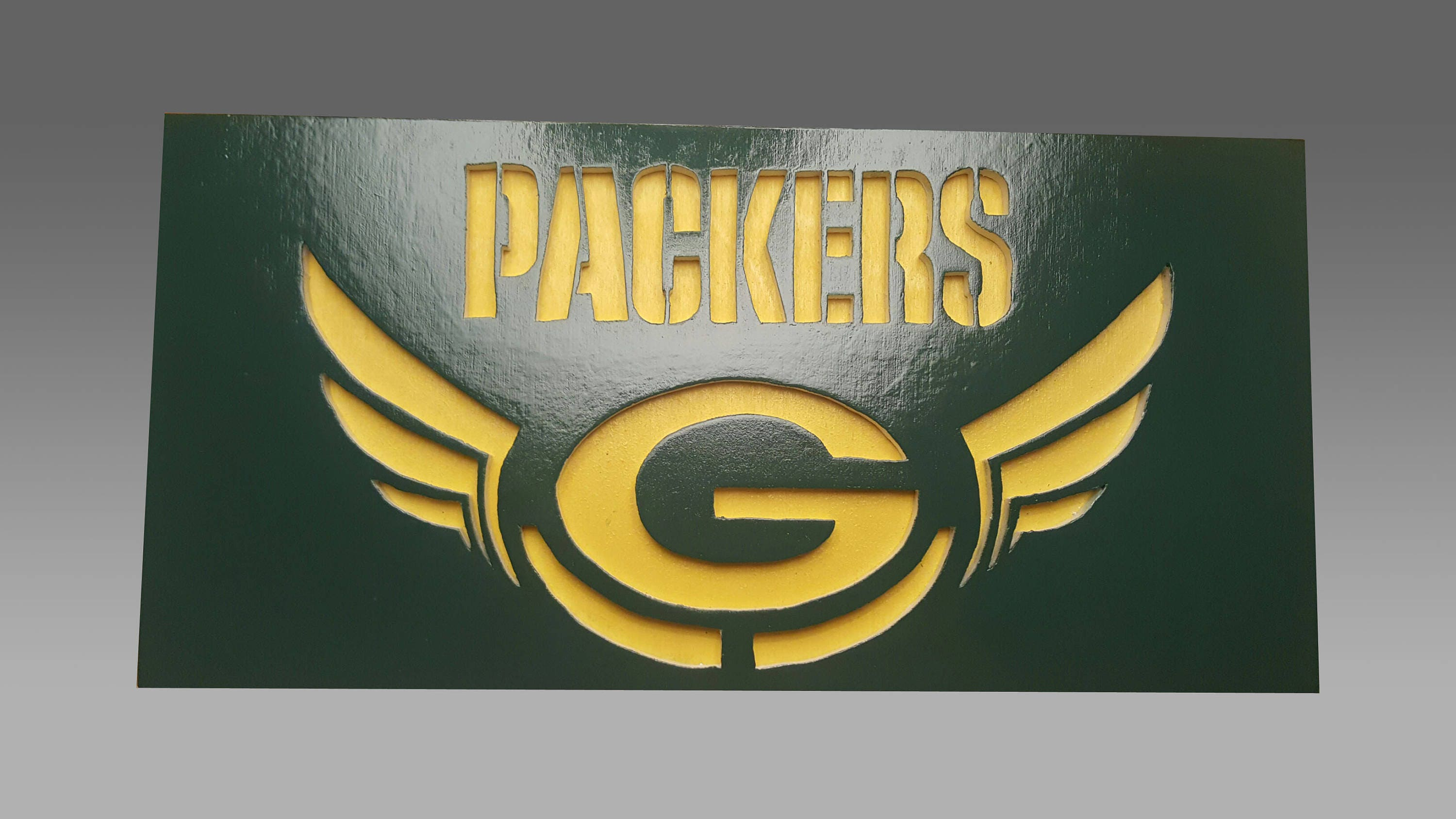 Green bay packers scroll saw art wall art wall decor zoom amipublicfo Image collections
