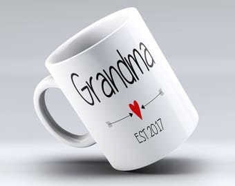 Grandma Established, Grandpa Established, Grandma + Grandpa Mug Set, Grandpa Mug, Grandpa and Grandma Established Mug, Any Year Can be added