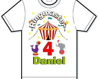 Circus Carnival birthday shirt