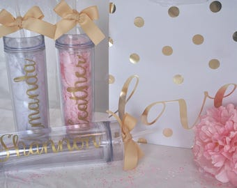Custom tumbler, personalized tumbler, bridesmade, bachelorette party, bridesmaid tumbler, team gift, personalized bottle with straw, bridal