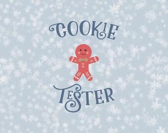 Cookie Tester Svg Cookies Svg Christmas Svg svg christmas svg christmas svg file Santa svg silhouette cricut christmas tree svg