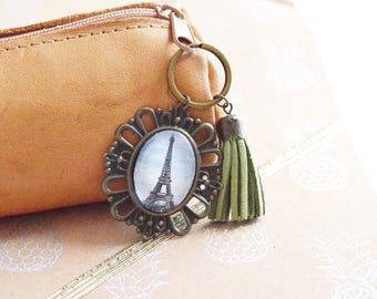 "Keychain Cabochon ""Eiffel Tower Paris"""