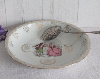 Genuine porcelain dish, 50s/60s. France.