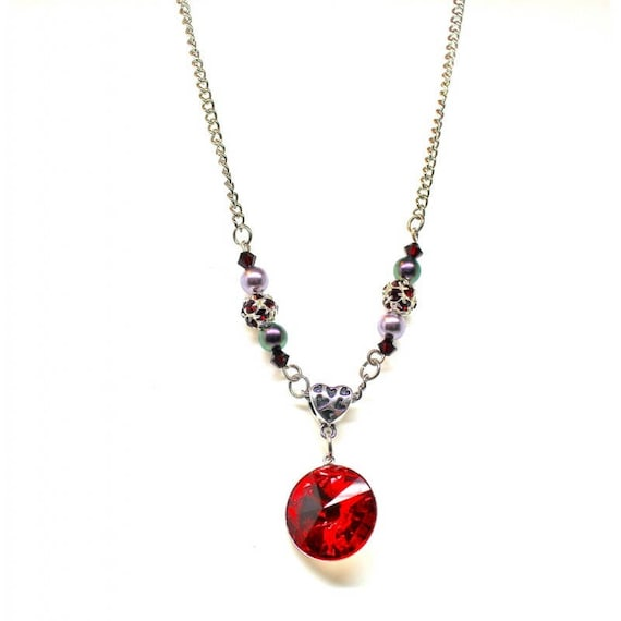 CABOCHON SWAROVSKI beaded chic necklace