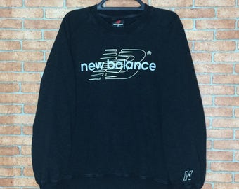 Rare!!! Vintage NB new balance Spell Out Big Logo sweatshirt crewneck pullovers size M  jacket