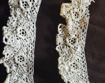 Vintage Irish Lace - 2 pieces - 10 and 11 inches