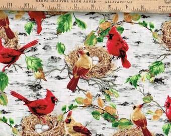 Cardinals,Nesting, Timeless Treasures