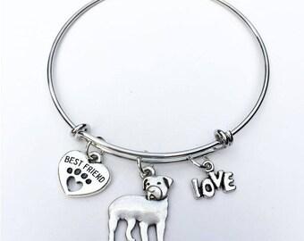 Rottweiler Best Friend Charm Bracelet