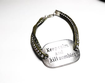 SALE 50% freak show - Keep calm and kill zombies Bracelet