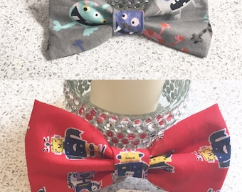 Robot & Alien dog puppy bow tie neckwear accessories