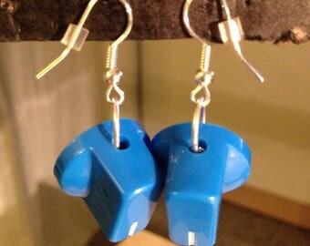 Blue Knob Earrings