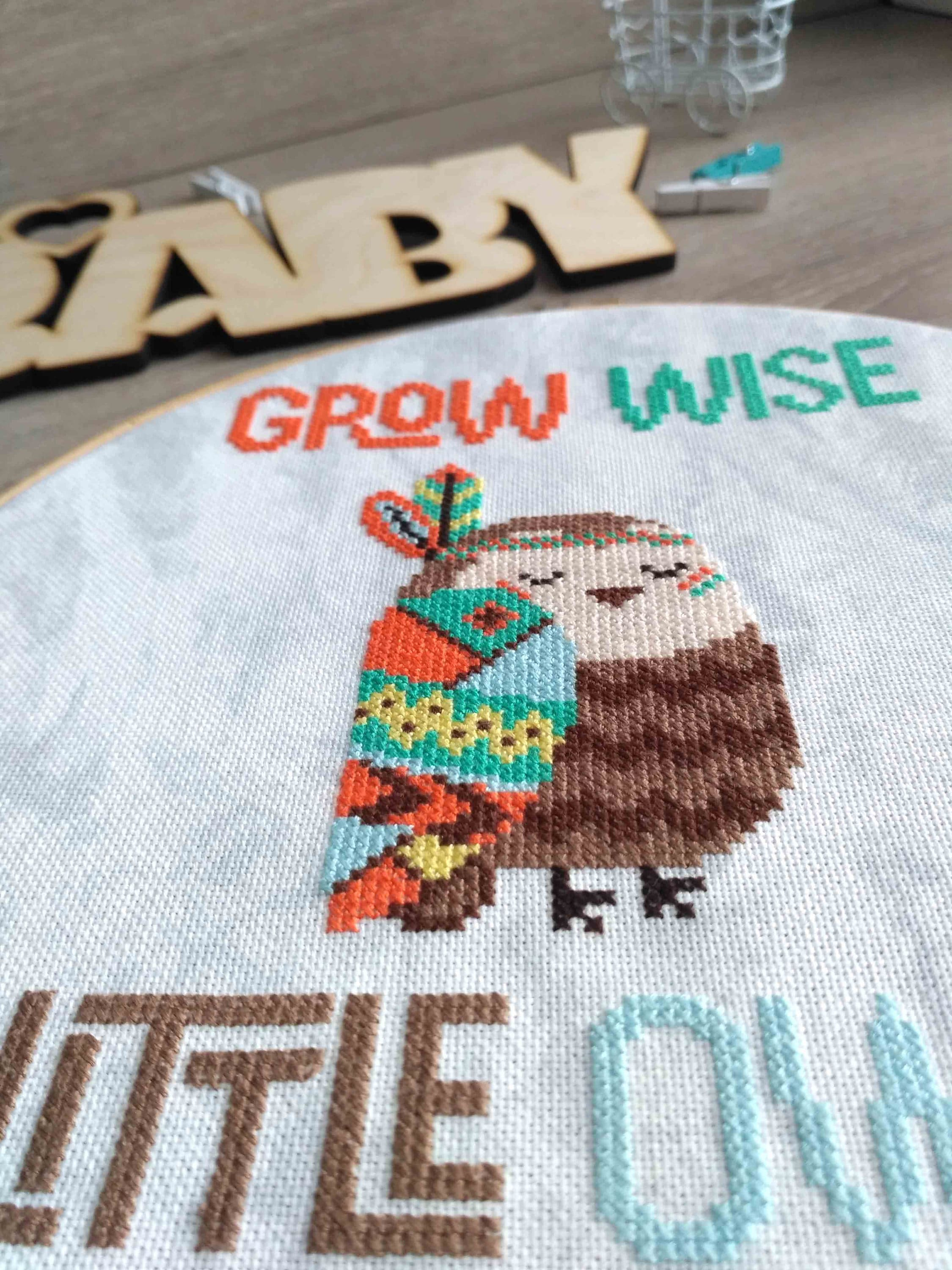 Boho owl baby cross stitch pattern baby owl cross stitch pattern this is a digital file bankloansurffo Image collections