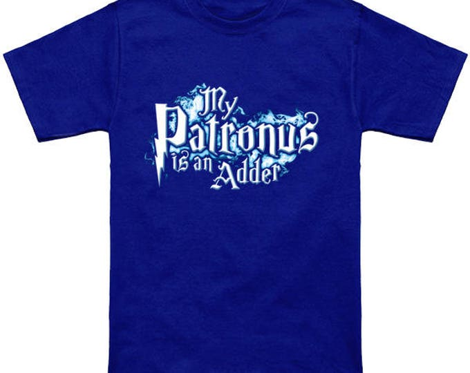 My PATRONUS Is An ADDER Custom T-Shirt Magic Animal Charm Fantastic Beasts Wizard Spell Fantasy Shirt