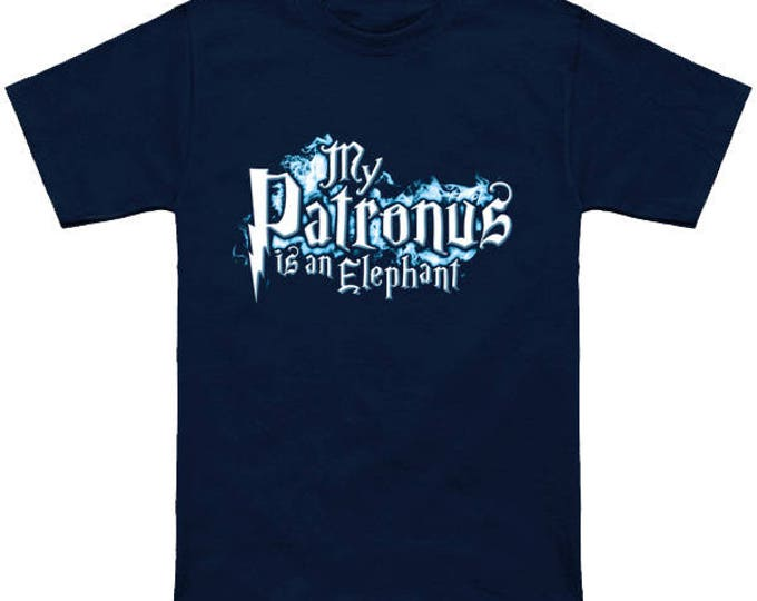My PATRONUS Is A ELEPHANT Custom T-Shirt Magic Animal Charm Fantastic Beasts Wizard Spell Fantasy Shirt
