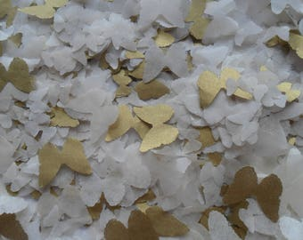 Gold & Champagne Butterflies Mix Biodegradable Tissue Paper Butterfly Confetti Wedding Party