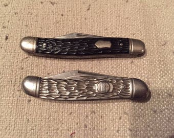 Pair of Vintage Imperial Two Blade Pocket Knives