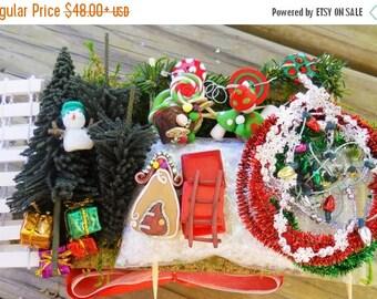 20% OFF STOREWIDE Fairy Garden Christmas Fairy Garden Kit, Micro Miniature Christmas Garden fairy or elf kit