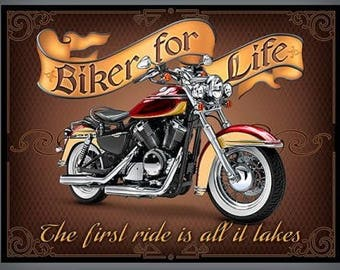 Quilting Treasures - Biker For Life Panel-1649-26015-X- CT120109-  100 % Percent  Quality Cotton Yardage