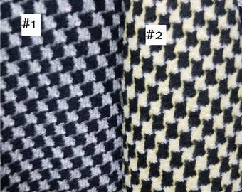 Wool Fabric Houndstooth Etsy
