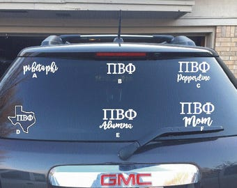 36- Pi Beta Phi Car/Laptop Decals