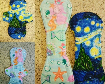 10.5 or 13 in cloth pad. Fully Customized- RUMPS Batkins, snarf barf