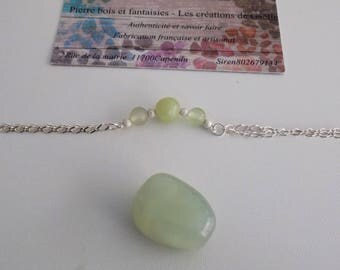 925 sterling silver and jade bracelet