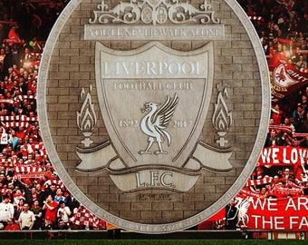 Liverpool FC Wooden Plaque