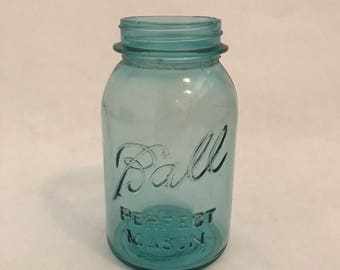 Vintage Blue Ball Jar