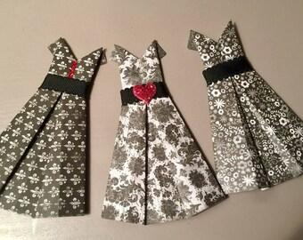 Paper Dresses, 3D Paper Art, Origami Dresses,Shabby Chic