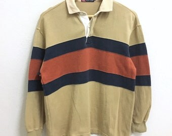 RARE!!! CHAPS Ralph Lauren Big Stripe Polo Rugby M Size