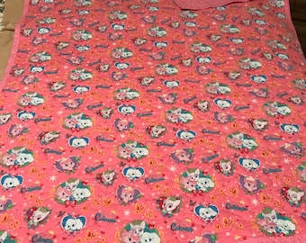 Kittens & Puppies Pink Baby Quilt