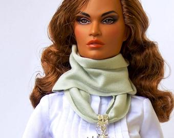 Doll scarf - Barbie clothes, Fashion Royalty doll clothes Barbie scarf Barbie accessories doll