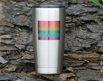 Rainbow Flag Engraved Tumbler or Flask -Personalization Available