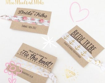 Hair ties | Customisable elastic hair tie | Favours | pony tail holders | Personalised favours