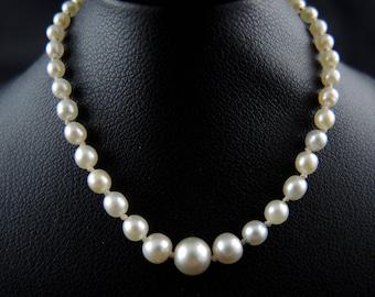 Collier de perles fines, Art Déco - Circa 1920 // Art Deco natural pearl necklace - Circa 1920