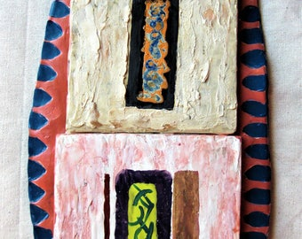 Sanctity of the Old - Abstract Ceramic Wall Art / Wall Sculpture / Wall Hanging / Wall Decor