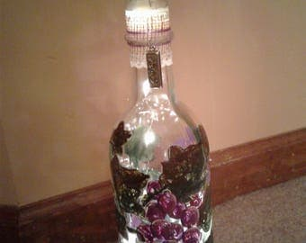 Hand-decorated Wine and Booze Bottles