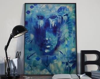 "Originální malba ""LOST"", akryl 31x23cm"