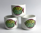 Gustavsberg PYNTA MINT small cups, Stig Lindberg, Extremely RARE Swedish vintage Scandinavian Highly Collectible, Sweden, Mid Century Modern