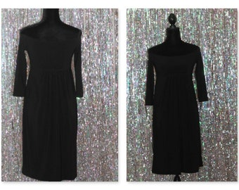 Norma Kamali Black Stretch Dress (S) *Excellent Condition