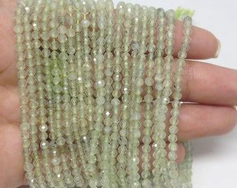 "Prehnite 3mm Round Beads ~ 15"" Full Strand ~ 118 Beads ~ AAA Quality ~ BF917"