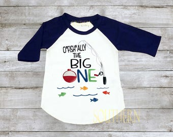 First Birthday, Fishing First Birthday, The Big One, Ofishally One shirt, Cake Smash, Fishing Pole, Fishing Birthday Shirt, 1st Birthday