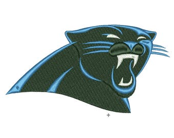 SALE**Carolina Panthers 3 Size Embroidery Designs College Football Logos Machine Embroidery Pattern