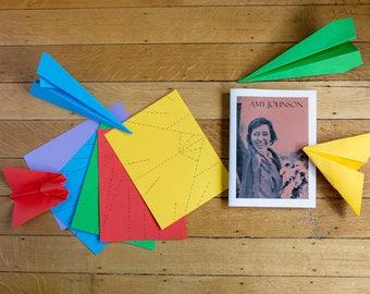 Pilot Experiment pack - Amy Johnson - activity pack for children about pilots