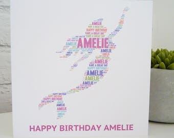 Personalised Mermaid Card, Personalised Birthday Card, Personalised  Card, Mermaid Card