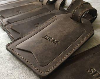 Leather luggage tag | Etsy